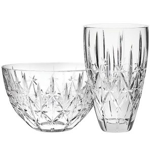 Marquis by Waterford Sparkle Vase and Bowl