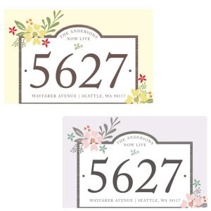 Floral Placard Moving Cards
